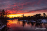 Fiery Sunset colors reflecting in the Chippewa river