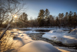 Winter scene at the Flambeau river, Wisconsin