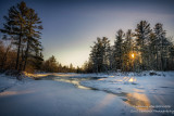 Winter scene at the Flambeau river, Wisconsin 2