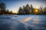 Winter scene at the Flambeau river, Wisconsin 3