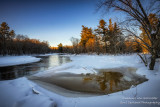 Winter scene at the Flambeau river, Wisconsin 4