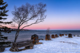 Pinks & Blues at Gooseberry Falls State park