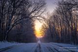 Colors of dawn, road
