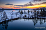 Sunset mood at the Chippewa Flowage, WI