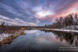 Sunset colors, Namekagon river
