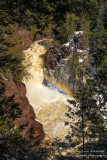 Brownstone Falls with rainbow