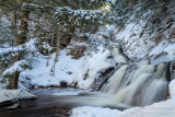 Morgan Falls with snow 2