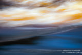 Blue & yellow water abstract