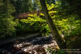 Foot bridge across the Presque Isle river