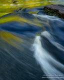 Presque Isle river, colorful close-up