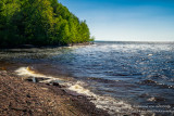 Lake Superior at the mouth of the Presque Isle river