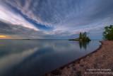 Dawn, Tombolo, north shore