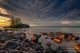 Sunrise, Tombolo, north shore 3