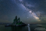 Milky Way and Jupiter at the Tombolo 1