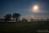 Moonlit landscape, northern Wisconsin