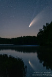 Comet Neowise at a lake in the Blue Hills, WI 1