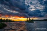 Dramatic sunset at the Chippewa Flowage, WI 1