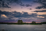 Dramatic clouds in the east, at sunset at the Chippewa Flowage, WI 1