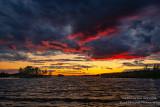 Dramatic sunset at the Chippewa Flowage, WI 2