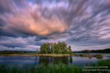 Dramatic clouds in the east, at sunset at the Chippewa Flowage, WI 2