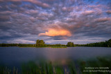 Dramatic clouds in the east, at sunset at the Chippewa Flowage, WI 3