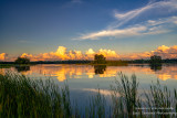 Sunset at the Chippewa Flowage - sunlit clouds in the east 1
