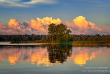 Sunset at the Chippewa Flowage - sunlit clouds in the east 2
