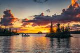 Sunset at the Chippewa Flowage - fishing boat