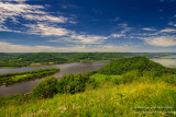 Trempealeau Mountain and Mississippi river