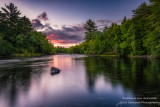 Evening sky at the Flambeau river, Wisconsin