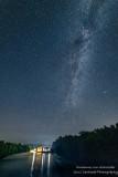 Night sky and Thornapple Dam