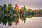 Fall colors - reflections at Audie Lake 1