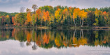 Fall colors - reflections at Audie Lake 2