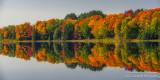 Perfect autumn reflections, panorama