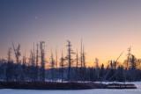 Sliver of moon at dusk