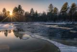 Sunburst at the Flambeau river