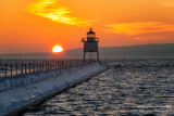 Glorious sunset, Two Harbors