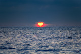 Lake Superior sunrise in shape of a heart!!