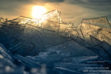 Clear Ice shards with sunlight, Lake Superior