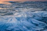Blue Ice shards, evening light
