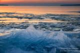 Ice shards at sunset 1