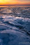 Ice shards at sunset 2