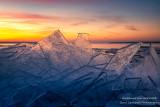 Ice shards at sunset 3