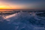Ice shards at sunset 4