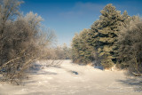 The Chippewa River with rime frost, Wisconsin