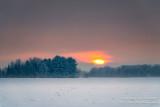 Moody winter sunset near Bruce, WI