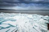 Blue ice, near Bayfield, Wisconsin