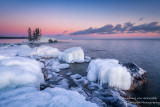 Blue Hour and ice, at Tombolo 1