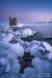 Blue Hour and ice, at Tombolo 2