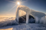 Ice creature with sun